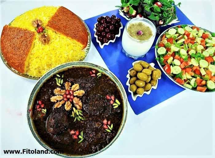 برنامه غذایی ماه رمضان در وعده شام