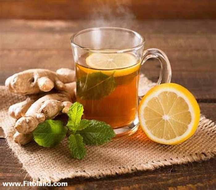 یکی از درمان های خانگی سردرد با چای زنجبیل