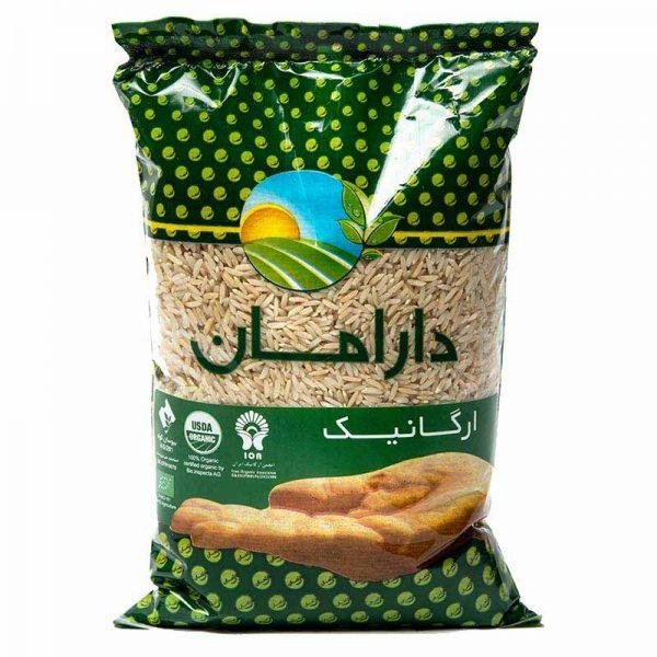 برنج قهوه ای ارگانیک دارامان 900 گرمی