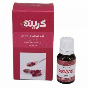 طعم دهنده طبیعی گل محمدی گرینو 15میل افزایش میل جنسی