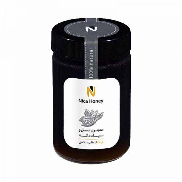 معجون عسل طبیعی و سیاهدانه نیکا 350 گرمی
