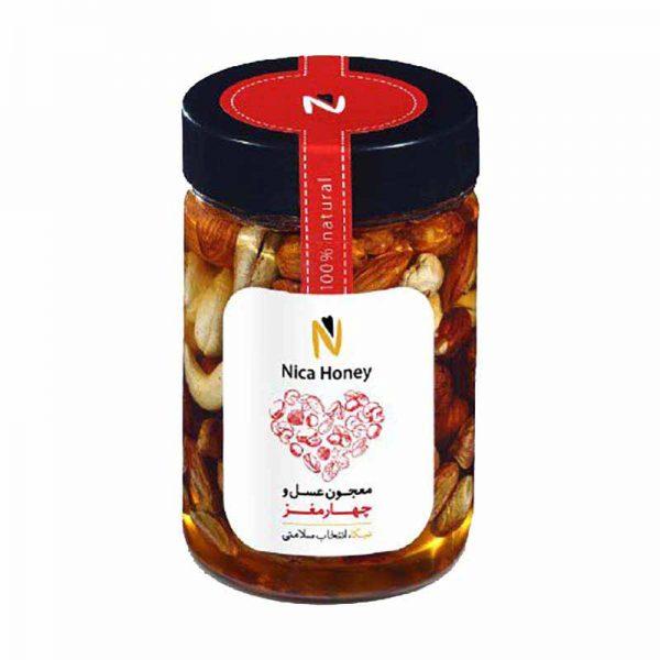 معجون عسل طبیعی و چهارمغز نیکا 350 گرمی