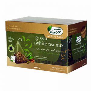 دمنوش گیاهی چای سبز و سفید مهرگیاه 14عددی