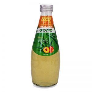 نوشیدنی آلوئهورا با طعم هلو شیرین شده با عسل گرینو 300میل