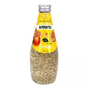 نوشیدنی آلوئهورا با طعم پرتقال شیرین شده با عسل گرینو 300میل