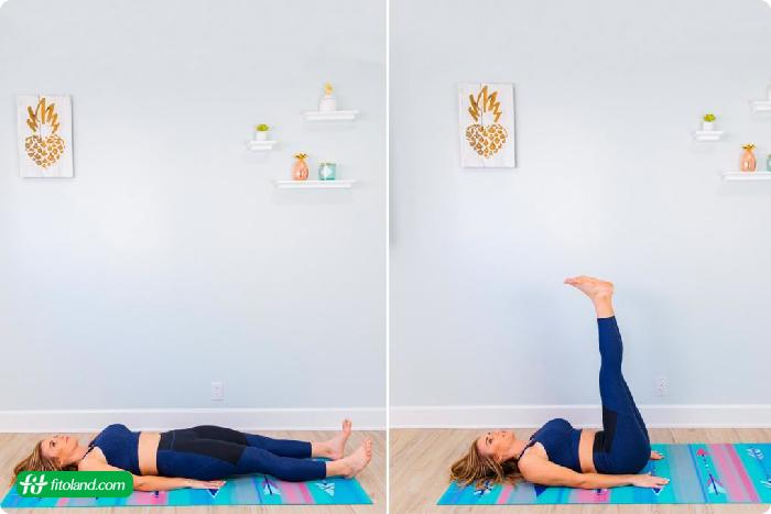 حرکت بلند کردن دو پا برای داشتن رابطه جنسی بهتر با ورزش و ورزش و رابطه زناشویی