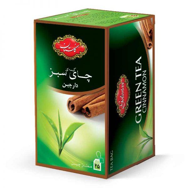 تی بگ چای سبز و دارچین گلستان 25 عددی