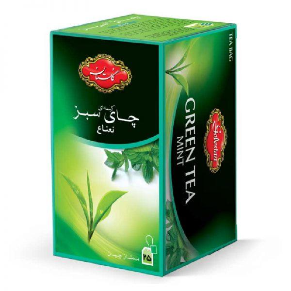 تی بگ چای سبز و نعنا گلستان 25 عددی