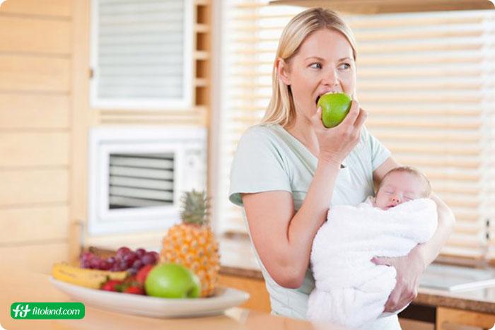 رژیم غذایی مادر بعد از بارداری