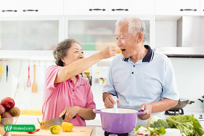 رژیم غذایی بالای ۶۰ سال
